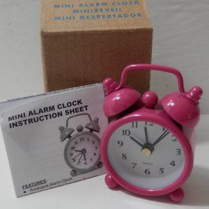 Mini Pink Alarm Clock NIB